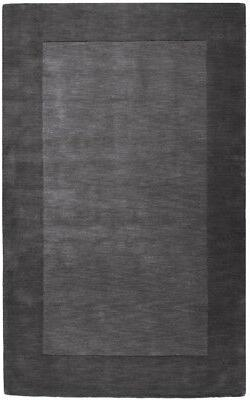 Surya Gray 5 x 8 Hand Knotted Wool Border Casual Lines Area