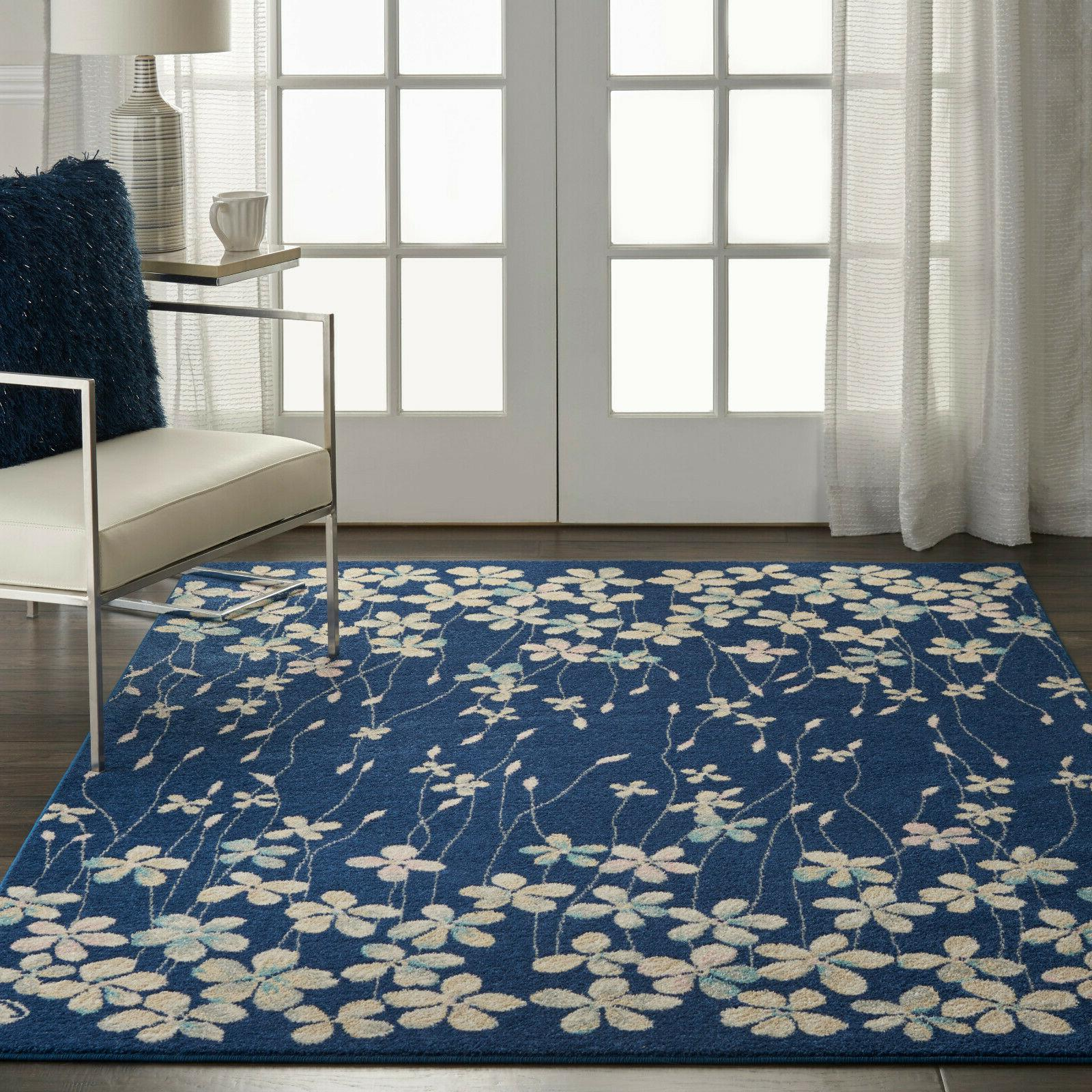 Nourison Tranquil 6' X 9' Navy Area Rugs