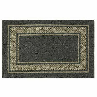 walker border washable accent rug charcoal size