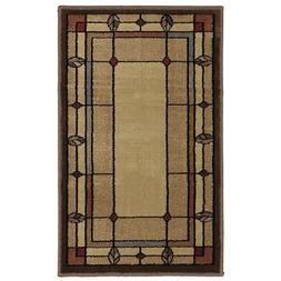 Mohawk Home Leaf Point Brown Indoor Inspirational Throw Rug
