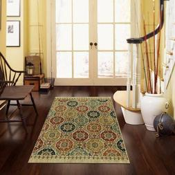 """Mohawk Home Lifeguard Floral Medallion Accent Rug 2'6"""" x 3'8"""