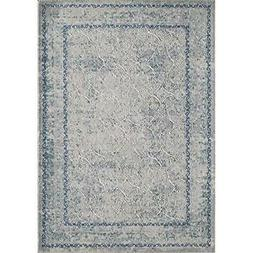 Momeni Rugs LUXE0LX-14BLU2376 Luxe Collection Power-Loomed C