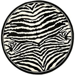 Safavieh Lyndhurst Collection LNH226A White and Black Round