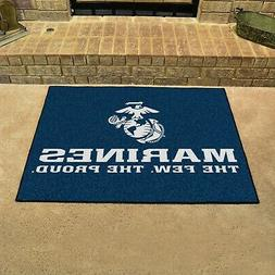 Fanmats Military  'Marines' Nylon Face All-Star Rug