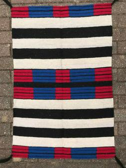 """NATIVE AMERICAN NAVAJO RUG, ALL WOOL 1980s, SIZE 50"""" x 29.5"""""""