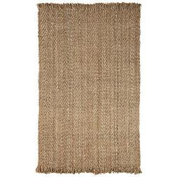 Natural Bohemian Collection Hand Woven Jute Rug