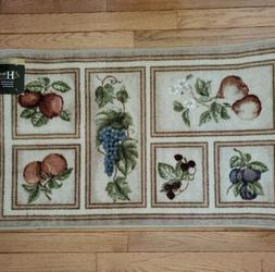 "New Brumlow Mills Durable Praline Accent Rug 20"" X 34""  Burg"