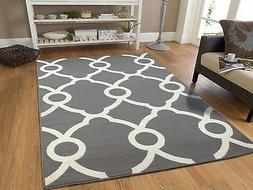 New Gray Contemporary Moroccan Trellis Area Rug 8x11 Modern