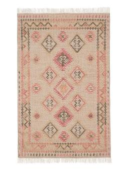 New Pottery Barn Solange Kilim Red Multi Indoor/Outdoor Rug