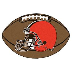 FANMATS NFL Cleveland Browns Nylon Face Football Rug
