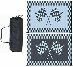 Outdoor Patio Deck RV Mat Reversible Rug 6 x 9 ft Foldable B