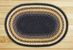 Earth Rugs Oval Area Rug, 6 by 9', Light Blue/Dark Blue/Must