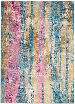 """Nourison Passion 6'7"""" X 9'6"""" Rectangle Area Rugs In Grey And"""