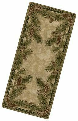 Brumlow Mills Pine Cone Gingham Kitchen Rug, 20-Inch by 44-I