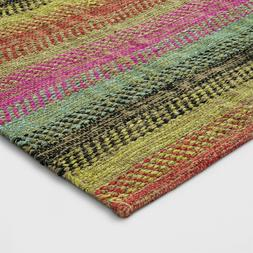 Pink/Blue/Yellow Striped Woven Accent Rug 2'X3' - Opalhouse