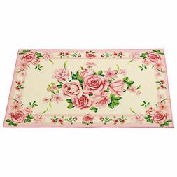 Realistic Printed Rose Bouquet Non-Slip Tufted Rug