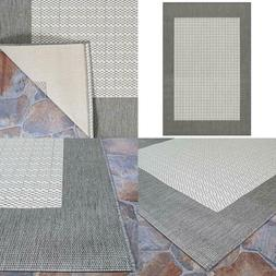 Recife Checkered Field Grey-White 9 Ft. X 13 Ft. Indoor/Outd