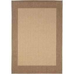 Couristan Recife Checkered Field Natural & Cocoa Indoor/Outd