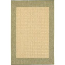 Couristan Recife Checkered Field Natural & Green Indoor/Outd