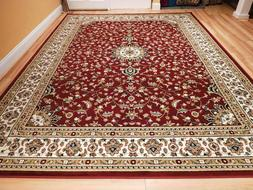 Red Traditional Oriental Medallion 8x10 Area Rug Carpet 2x3