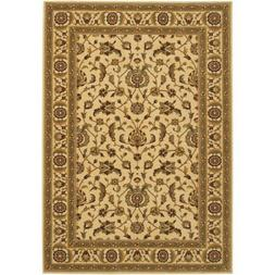Couristan Royal Luxury Brentwood Linen & Beige Rug