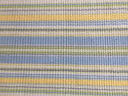 Maine Cottage Rug 100% Cotton 2 x 3 Ft Striped Blue Yellow G