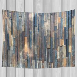 Rustic Wooden Wall Hippie Tapestry Wall Hanging Rug for Bedr