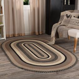 Sawyer Mill Charcoal Jute Farmhouse Country Cottage Oval Rec