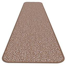 House, Home and More Skid-resistant Carpet Runner - Praline