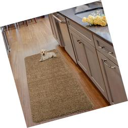 Solid Runner Rug, Non-Slip Rubber-Backing Bath, Luxury ...