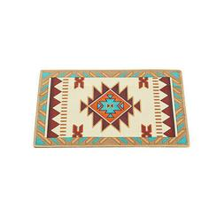 Traditional Southwest Aztec Printed Accent Rug