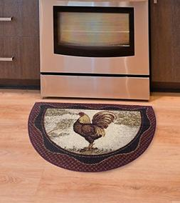 Brumlow Mills Tall Rooster Kitchen Rug, 19-Inch by 31-Inch,