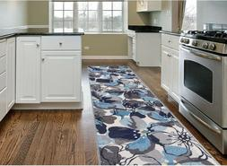 Throw Rug Long Runner Floral Living Room Kitchen Entry Area