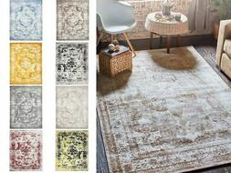 Traditional Inspired Persian Faded Transitional Area Rug Mul