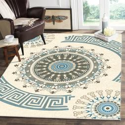 Traditional Medallion Area Rug Non-slip Carpet Dining Room B