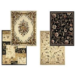 Transitional Floral Area Rug 8x11 Casual Vines Scrolls Carpe