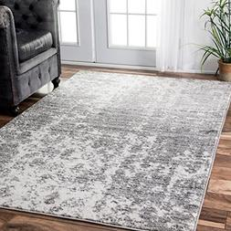 nuLOOM Transitional Mist Shades Area Rugs, 5' x 8', Grey