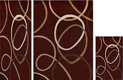 Home Dynamix Tribeca Aiden Area Rug 3 Piece Set, Abstract Re