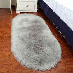 Ultra Soft Thick Fluffy Faux Sheepskin Area Rug for Living R