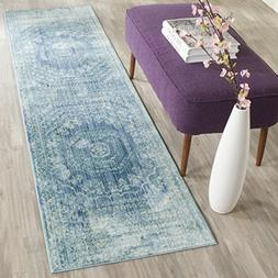 Safavieh Valencia Collection VAL205R Blue and Multi Polyeste