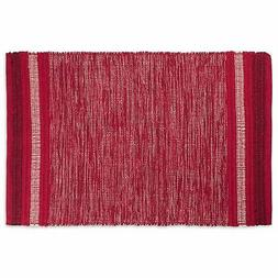 DII Varigated Red Recycled Yarn Rug