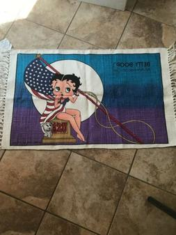 "Vintage Betty Boop Rug 35"" X 22 1/2"" -""All American Gi"