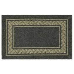 """Walker Border Washable Accent Rug - Charcoal - Size: 2'6""""x3'"""