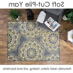 5X7 Washable Area Rug Medallion Soft Cut Pile Non Slip MAXY