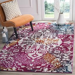 Safavieh Water Color Collection WTC669F Ivory and Fuchsia Ar