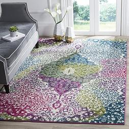 Safavieh Water Color Collection WTC672F Ivory and Fuchsia Ar